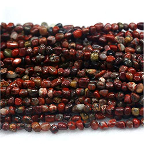 GemAbyss Beads Gemstone 1 Strands Natural Red BRECIATED Jasper Nugget Loose Beads Free Form Beads Fit Jewelry 9x12mm 15 Inch Long 03950 Code-MVG-29993 ()