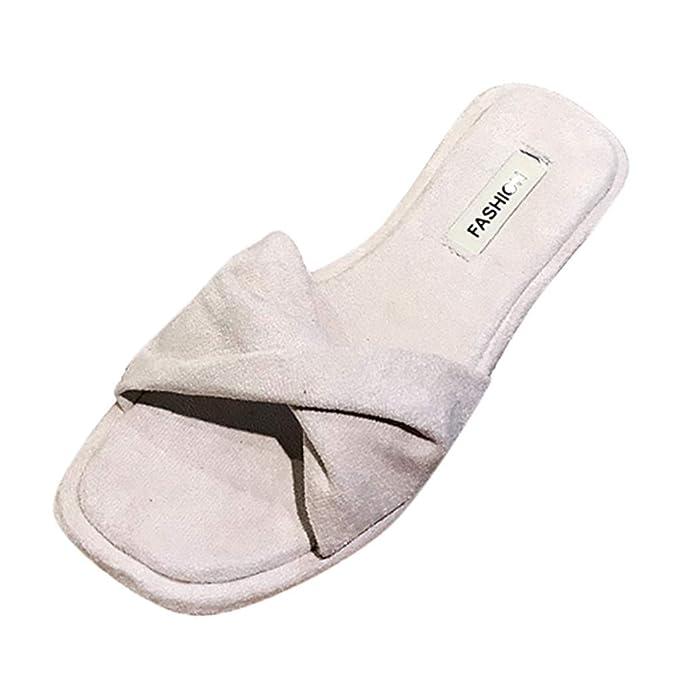FELZ Zapatillas Zapatos de Playa Sandalias para Mujer Pisos con Lazo Zapatos de Playa Tobillo con Punta Abierta Transpirable Casual Zapatillas: Amazon.es: ...
