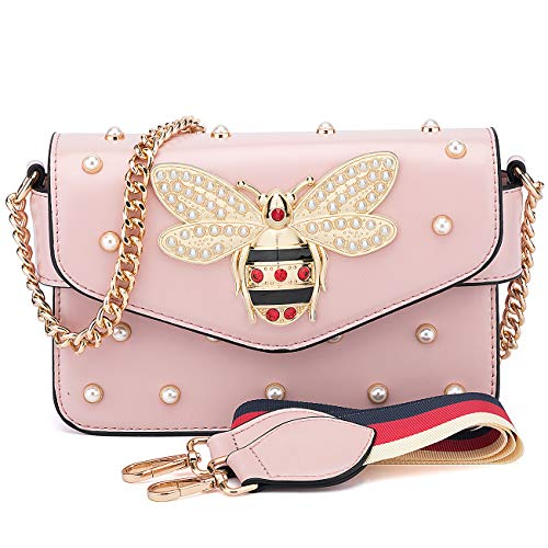 BNWVC Purses and Handbags for Women Designer Shoulder Crossbody Bags for Women with Chain Bee Fashion ()