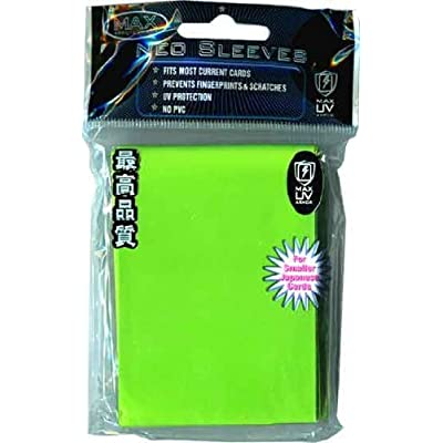 Max Protection YuGiOh Flat Gaming Card Sleeves, Flat Lime Green, 60 Count: Sports & Outdoors [5Bkhe0904060]