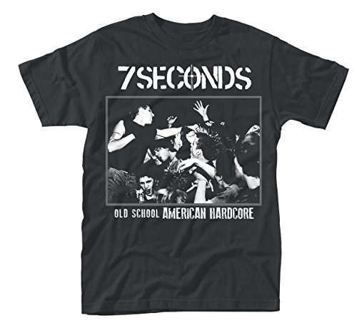 7 Seconds T Shirt Old School America Band Logo Official Mens Black Size L