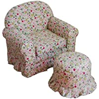 Kinfine USA Kids Chair and Ottoman set