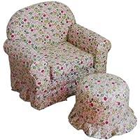 Kinfine USA Kids Chair and Ottoman set