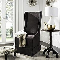 Safavieh Mercer Collection Stella Slip Cover for Side Chair, Dark Grey
