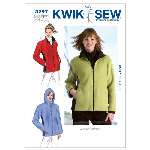 Kwik Sew K3297 Jackets Sewing Pattern, Size XS-S-M-L-XL
