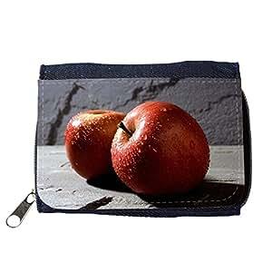 le portefeuille de grands luxe femmes avec beaucoup de compartiments // M00313785 Las frutas manzana roja comida fresca // Purse Wallet