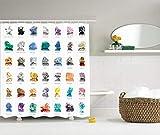 Image Tablecloth Shower Curtain Rocks Gemstones with Names Semi Precious Stones Magic Zen
