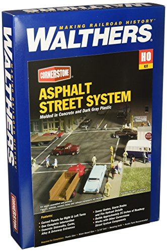 - Walthers Cornerstone Series Kit HO Scale Full Set Asphalt Street System