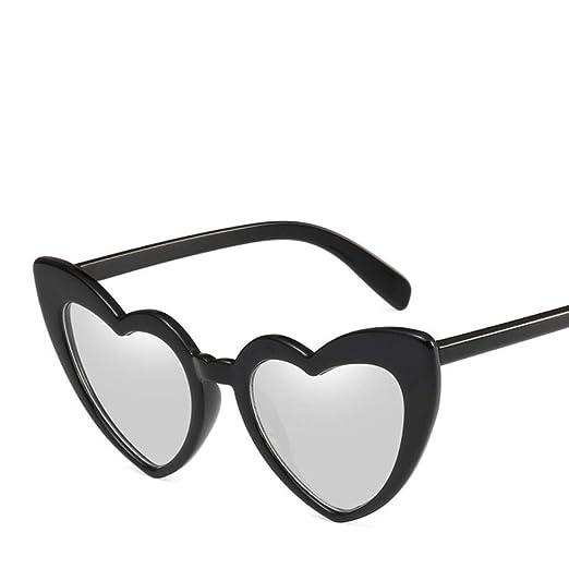 Yangjing-hl Moda Amor Corazón Gafas de Sol Mujeres Cat Eye ...