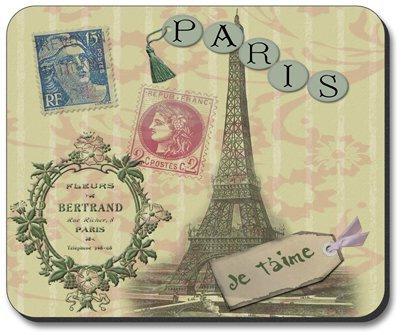 Paris Je T'Aime Travel Themed Mouse Pad
