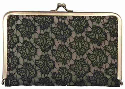 FAP0088-1 Clayre & Eef - Portafoglio - Astuccio porta-cosmetici - nero ca. 19 x 13 cm
