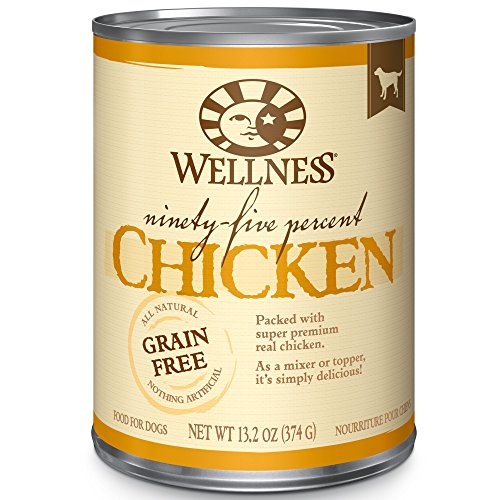 Wellness 95% Chicken Natural Wet Grain Free Canned Dog Food, 13.2-Ounce Can For Sale