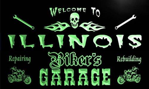 ker's Garage Motorcycle Repair Beer Neon Bar Sign (Illinois Neon Sign)