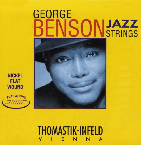 Thomastik-Infeld JS18 Jazz Guitar Strings: Jazz Series Strings Steel Core; Pure Nickel Flat Wound - Single G String