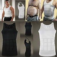 Men Body Slimming Tummy Shaper Belly Underwear shapewear Waist Girdle Shirt (XL, BLACK)