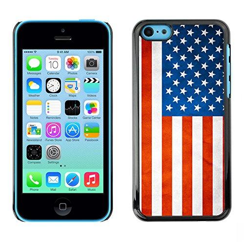 Omega Case PC Polycarbonate Cas Coque Drapeau - Apple iPhone 5C ( USA Grunge Flag )