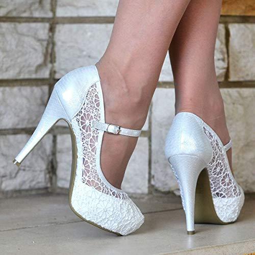 Boutique Donna Cinturino White Box Caviglia Shoe Con alla vZO5UwYnqx