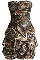 MILANO BRIDE 2016 Lovely Strapless Short Camo Prom Party Dress Homecoming Gown