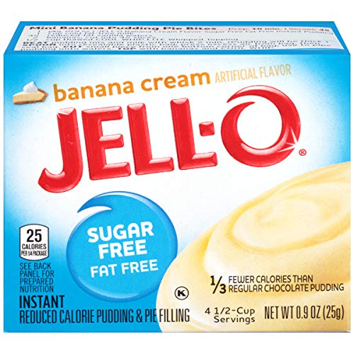 JELL-O Instant Banana Cream Pudding & Pie Filling Mix (0.9 oz Boxes, Pack of 6) ()