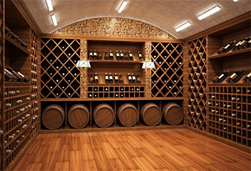 CSFOTO 7x5ft Background For Wine Cellar Manor Photography Backdrop Luxury Cellar Storage Stacked Taste Life Holiday Rest Relax Leisurely Time Photo Studio Props Vinyl Wallpaper (Reserve Wine Private Cellar)