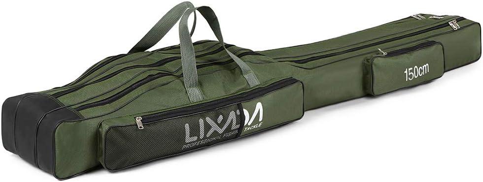 Lixada Trolley-Bag Tragbarer Rollen der Fischerei Rucksack Fischerei Pole Gear Tackle Tool Carry Case Carrier
