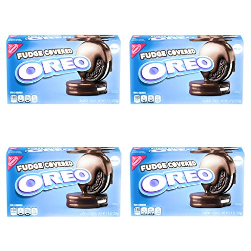 Oreo Fudge Covered Sandwich Cookies - Pack of 4 Boxes - 7.9 oz per Box (Fudge Covered, 4 Boxes)