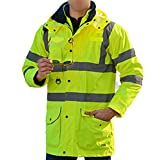 Specification  . Color: Neon Yellow  . Size: L  . Shell Material: 300D Oxford fabric  . PU Lining: Poly-cotton quilted  . Reflective tape: TC highlight  . Waterproof: Heavy rain  . Wind resistance: Wild wind  . Thickness: Extremely thick  . Keep Warm...