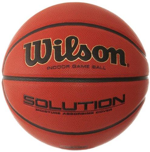 Wilson Ballon Basketball Intérieur, Compétition, Homologué FIBA, Solution Game Ball