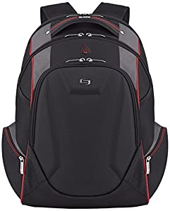Solo Launch 17.3 Inch Laptop Backpack with Hardshell Front Pocket