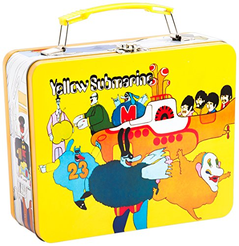 Vandor 73070 the Beatles Yellow Submarine Vintage Shaped Tin Metal Lunchbox Tote with Handle, ()