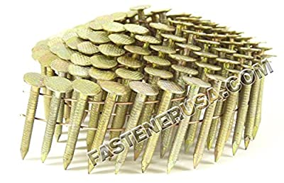 """1"""" Ring Galvanized Coil Roofing Nails 3.6M JobPak by FastenerUSA"""