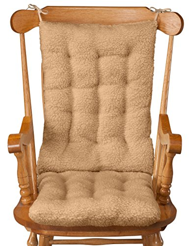 - WalterDrake Sherpa Rocking Chair Cushion Set, Camel
