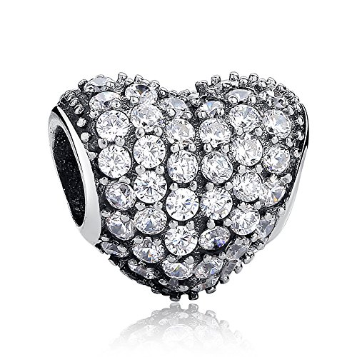 Pandora. Pave Open My Heart, Clear CZ (Inspired Pave Heart)