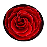 DeMissir 3D Rose Pattern Round Area Rug Fashion Living Room/ Bedroom Carpet (39.4 Inches) Review