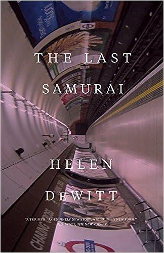 Image result for helen dewitt the last samurai