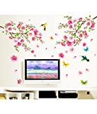 Decals Design 'Flowers Branch' Wall Sticker (PVC Vinyl, 60 cm x 90 cm)