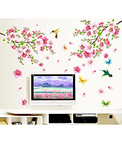 dbb4b304b Image Unavailable. Image not available for. Colour  Decals Design  Flowers  Branch  Wall Sticker ...