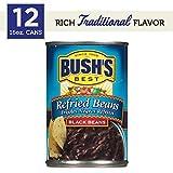 Bush's Best Black  Refried Beans, 16 oz (12 cans)