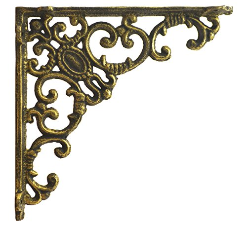 gold brackets for shelves - 9