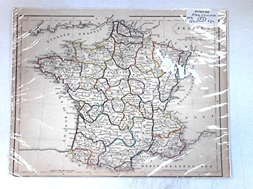 Antique Map, hand coloured, circa ()