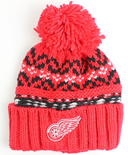 fan products of NHL American Needle Gusto Cuffed Pom Beanie Knit Hat (Detroit Red Wings)