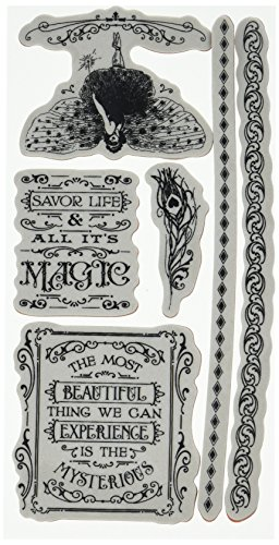 Graphic 45 IC0385S Midnight Masquerade Cling Stamp Set 3 of 3 (Graphic Stamp)