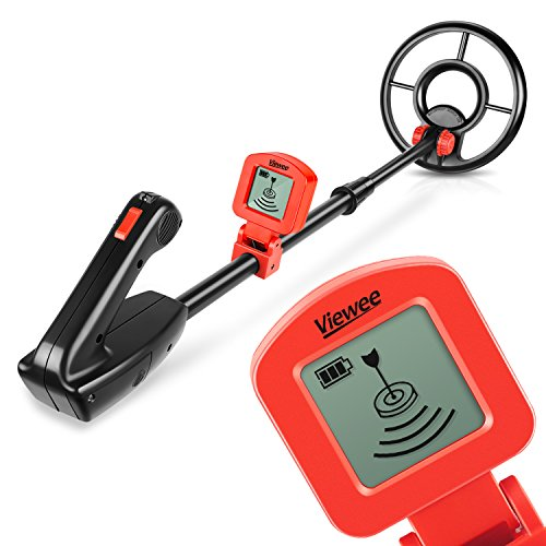 Viewee Lightweight Metal Detector with Waterproof Search Coil and LCD...