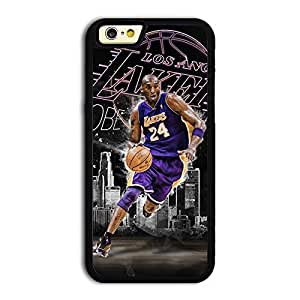 "TPU iPhone 6 case protective skin cover with NBA great player and MVP LA Lakers No.24 Kobe Bryant ""Black Mamba by icecream design"