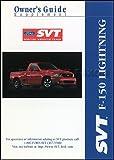 2001 Ford F-150 SVT Lightning Pickup Truck Owner's Manual Original Supplement