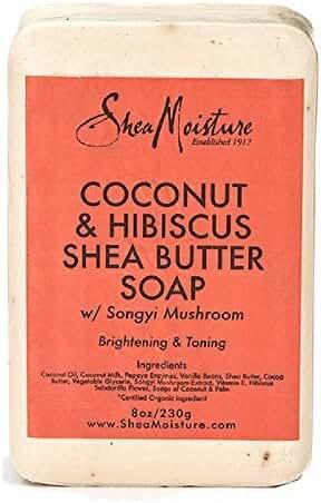 Shea Moisture Coconut Hibiscus Bar Soap, 8 Ounce