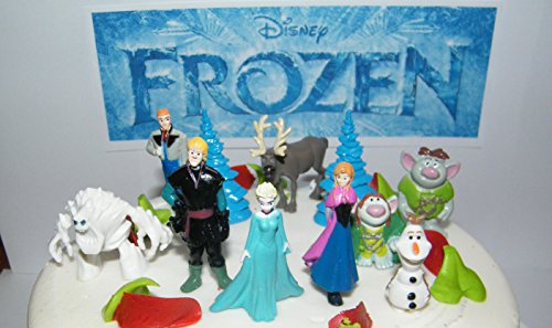 Disney Frozen Figure Set Mini Cake Toppers Mini Cup Cake Par