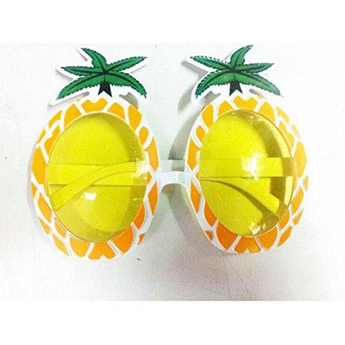 Jun - Juego de 3 Gafas de Sol de Piña Tropical, Diseño Hawaiano de ...