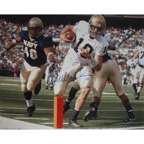 NCAA Brady Quinn Notre Dame Rushing TD Autographed 8-by-10-Inch Photograph