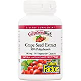 Natural Factors - GrapeSeedRich Grape Seed Extract, Antioxidant Support for Healthy Circulation and Eye Health, 90 Vegetarian Capsules